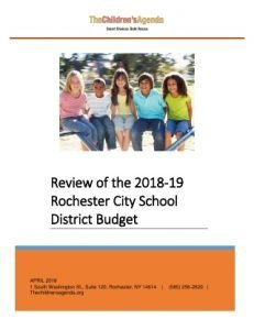2018-19 RCSD Budget Review Cover