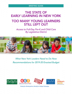 The State of Early Learning in New York Cover
