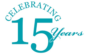 Celebrating 15 Years Logo