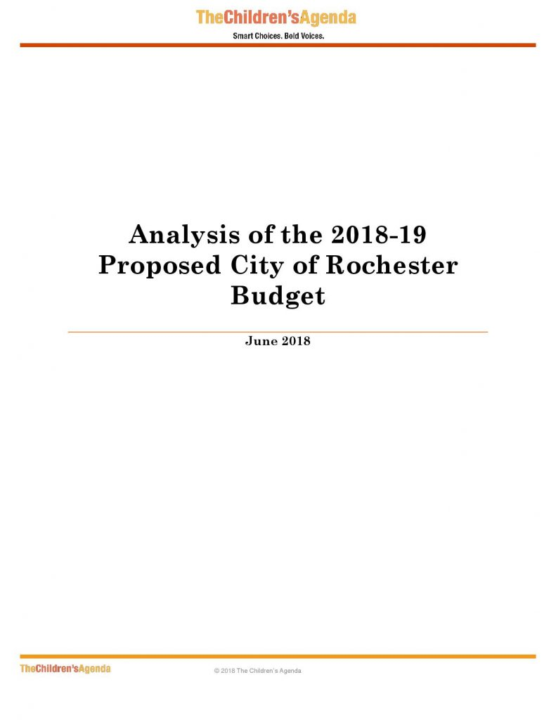 2018-19 City of Rochester Budget Review Cover