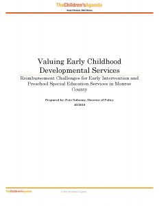 Valuing-Early-Childhood-Developmental-Services-040518-Cover