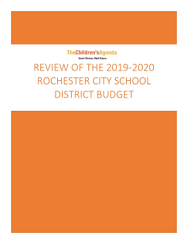 2019-20220 RCSD Budget Review Cover