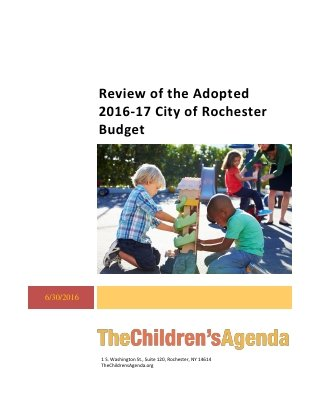 2016-17 City of Rochester Budget Review Cover