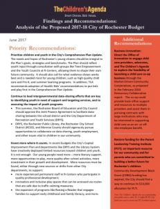 2017-18 City of Rochester Budget Review Cover