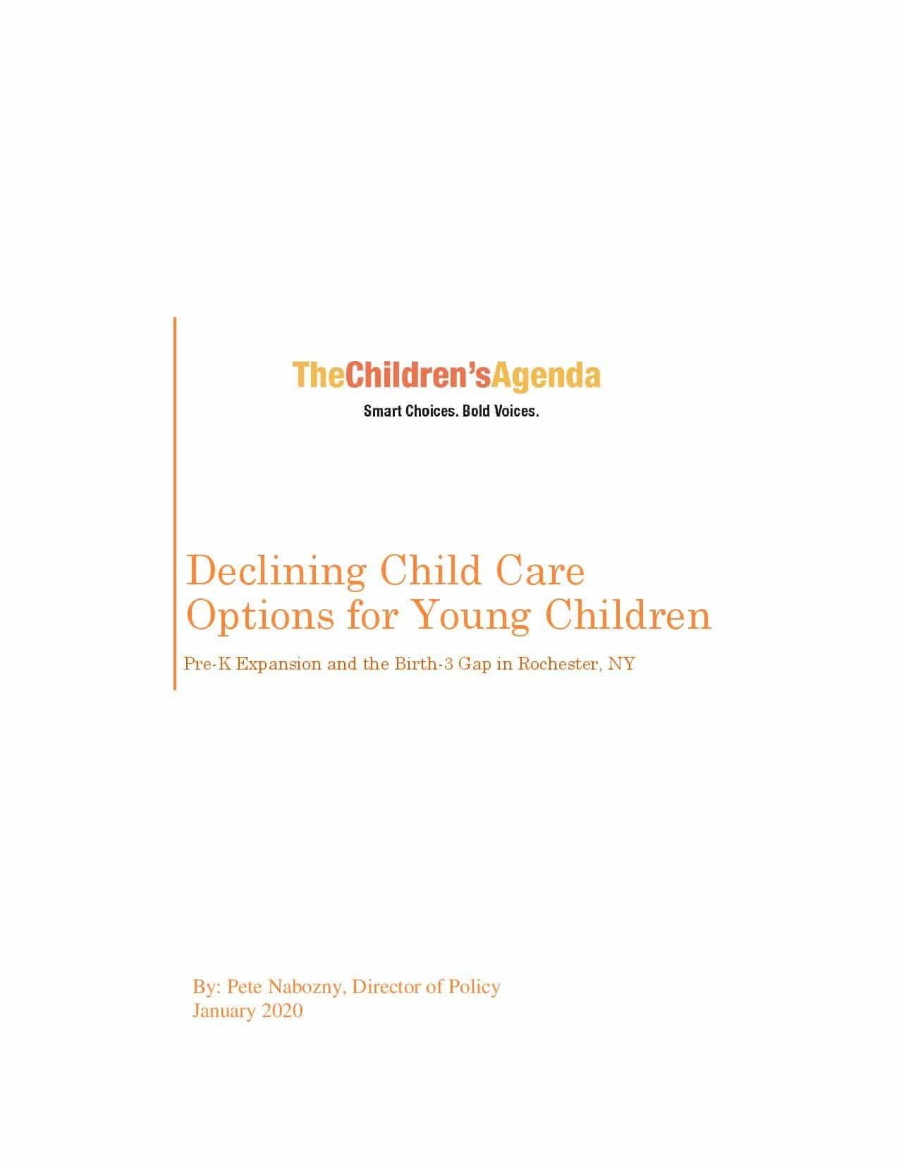 Child Care Report