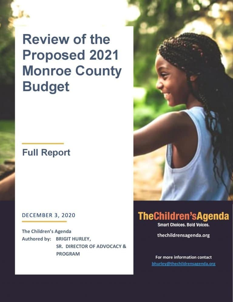 Cover of 2021 County Budget Report